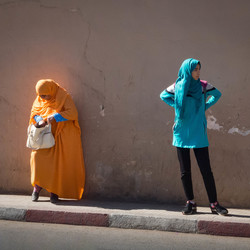 jong en minder jong in Marokko