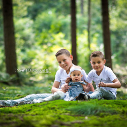 Family in the wood