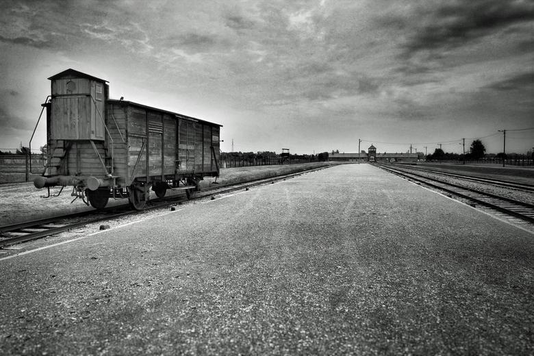 Trein in Oświęcim Birkenau -