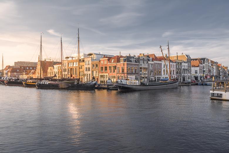 Galgenwater - Veel gefotografeerde plek ook door de toeristen maar elke keer weer anders... Het Galgewater in Leiden.<br /> <br /> (c) 2018 <a href=