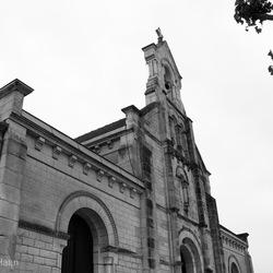 Zwart wit kerkje