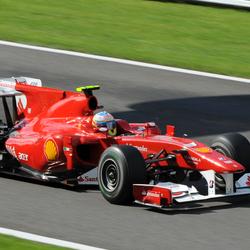 Fernando Alonso op Spa 2010
