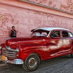 Straatopname Cuba (old timer)
