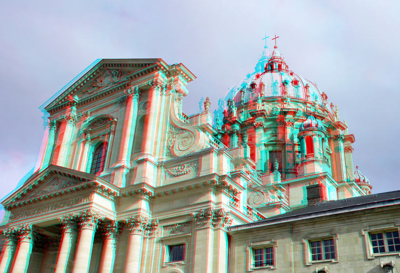 Val-de-Grace Paris 3D - Val de Grace Paris 3D<br /> anaglyph stereo red/cyan<br /> D7000 cha-cha