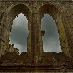 Windows at Old Wardour Castle