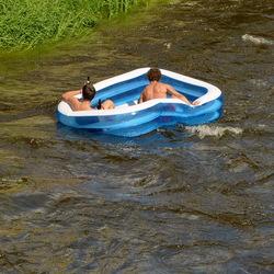 Avondtuur op de rivier.