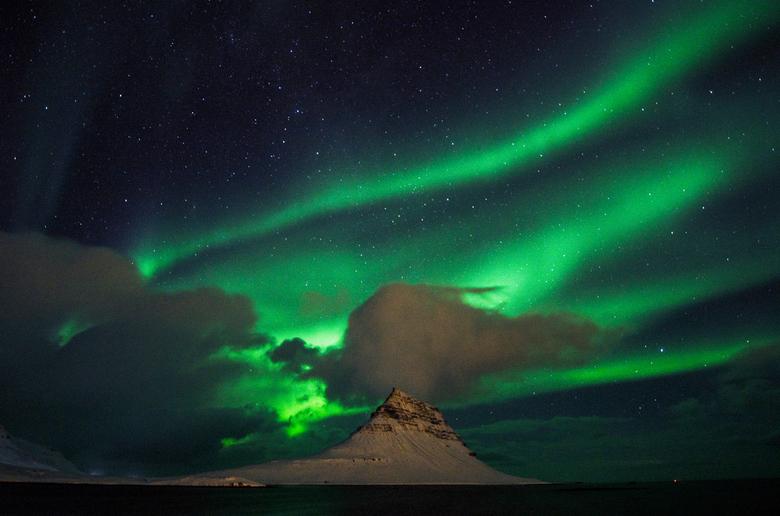 Iceland, Kirkjufell - Aurora Borealis -