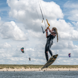 Kitesurfen sprong