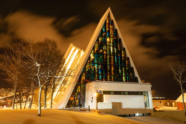 Ice Cathedral - Prachtige ijszee-kathedraal (Ishavskatedrale) van Tromso.