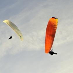 Parasailers in Zoutelande