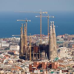 Sagrada Familia gezien vanuit Parc Guell