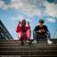 Straatfoto in Almere... Rap oefenen bij de schouwburg