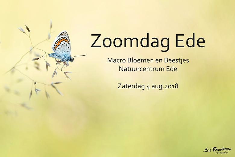 Zoomdag 2018 = Vol - Zoomdag EDE <br /> <br /> Zaterdag 4 augustus houden we weer onze jaarlijkse (macro) zoomdag in de tuin bij het natuurcentrum i