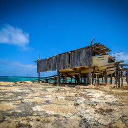 Houten boot hut