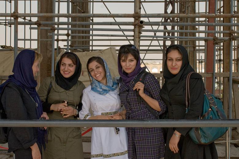 Ontmoeting in Isfahan  - De mansen in Iran zijn zoals je ziet echt heel vriendelijk!!