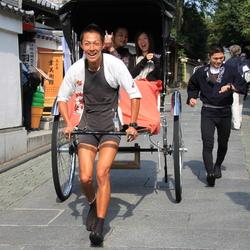 vervoer in Japan per Riksja