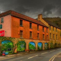 Cheddar village, Somerset, UK.