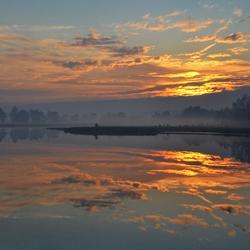 zonsondergang Leersumseveld