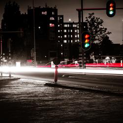 Street lighttrails
