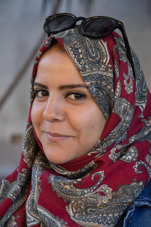 Mooie ogen - Gelukkig wilde deze dame wel op de foto. Foto's nemen in een Islamitisch land blijft toch nog steeds wel een dingetje.