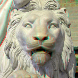 Lion Monument Willem I Nieuwe Kerk Delft 3D