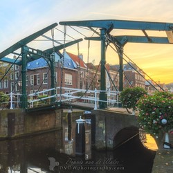 Sunset bridge Leiden