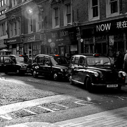 Black Cabs in line