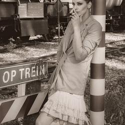 bij een spoorwegovergang