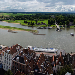 Panorama IJssel bij Deventer