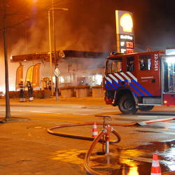 Grote brand Shell