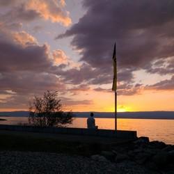 lac leman   du soir
