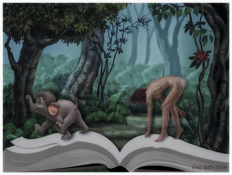 """Yessss!!! I'm Mowgli now in Jungle Book - selportrait - ja <img  src=""""/images/smileys/smile.png""""/> Ik ben vanwege mijn haar <img  src=""""/images/smileys"""