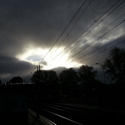 ´s ochtends bij de tramhalte