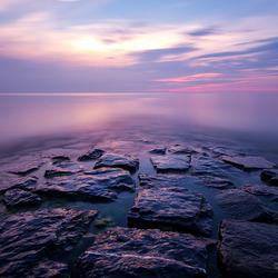 Sunset at Katwijk beach