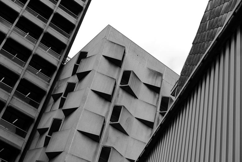 Belgacomtoren - Gent - Architectuur structuren van de Belgacomtoren in Gent, België.