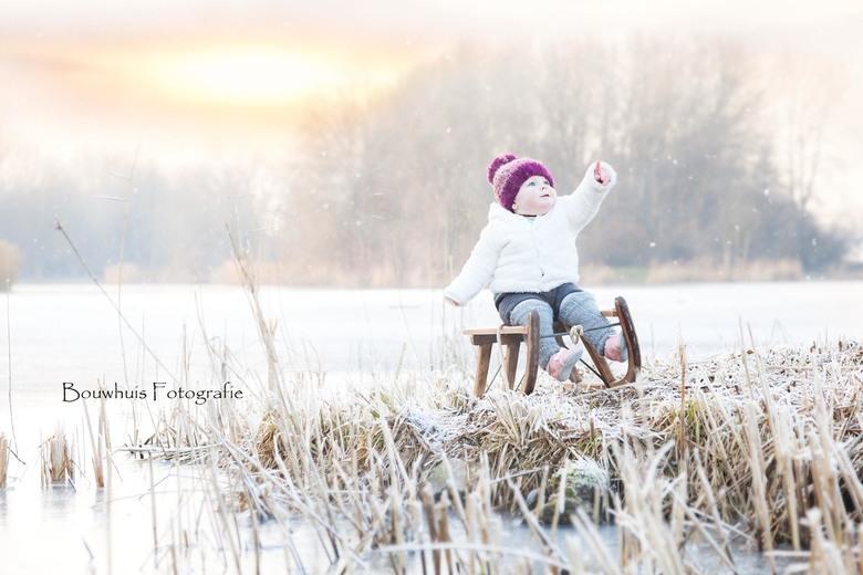 Winter Sunset - Fotoshoot met de kleine Liv (bijna 1)