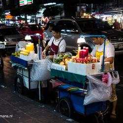 Stalletjes met eten Chinatown Bangkok
