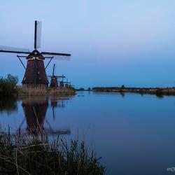 Kinderdijk after sunset