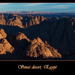 Sinai, Egypte Panorama