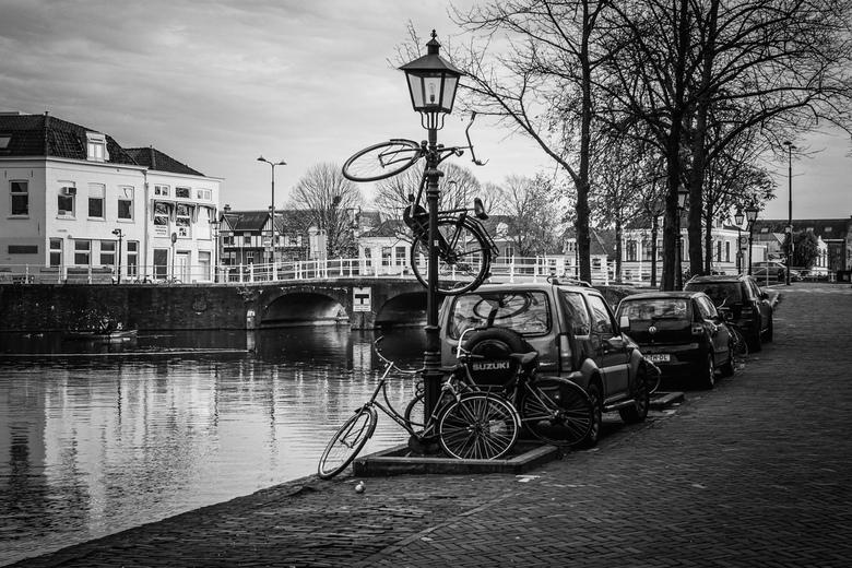 Delft studentenstad - Creatief met fietsen.