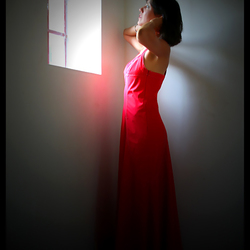.. the red dress ..