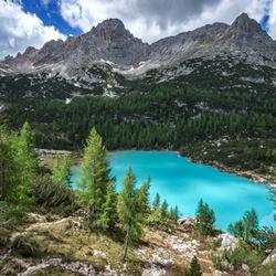 Uitzicht op Lago di Sorapis