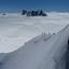 Wandelen op de flank van de Mont Blanc