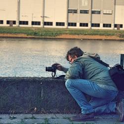 Fotograaf in de haven