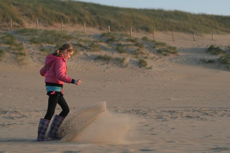 Opspattend zand