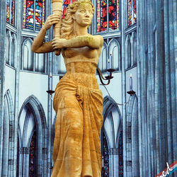 Verzetsmonument bij de Domkerk in Utrecht