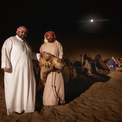 Poseren in de woestijn