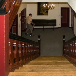 Het trappenhuis van het stadhuis van Cochem, foto 4.