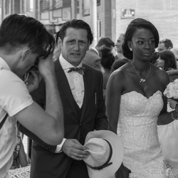 Bruid en bruidegom in Marseille