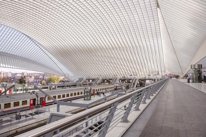 Luik 3 - Overzichtsfoto van de binnenkant van het station Guillemins te Luik.